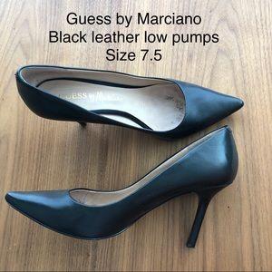 Low heel black pumps